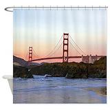 Golden gate bridge Shower Curtains