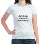 'Guys Dig Cancer Survivors' Jr. Ringer T-Shirt