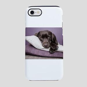 labrador-dog-lying-on-pillows iPhone 7 Tough Case