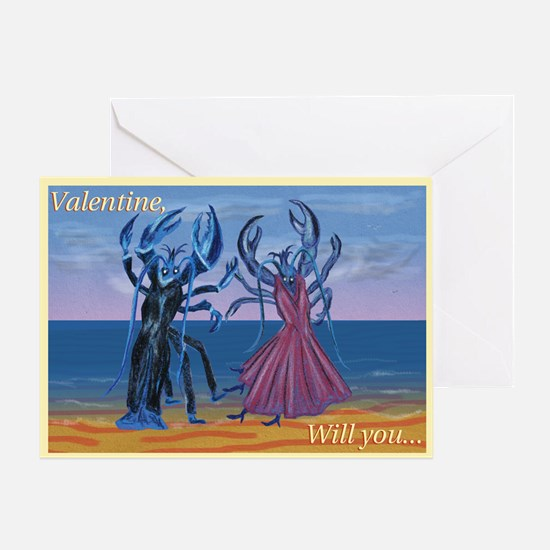 Lobster Quadrille Valentine card
