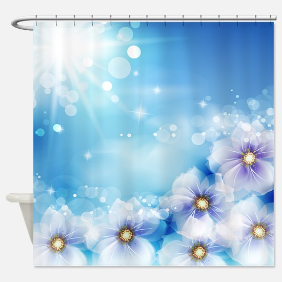 Flowers and Sun Shower Curtain