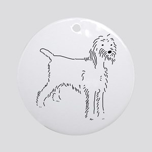Spinone Italiano Sketch Ornament (Round)