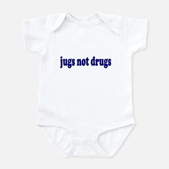 Jugs Not Drugs (Breast) Infant Bodysuit
