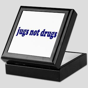 Jugs Not Drugs (Breast) Keepsake Box