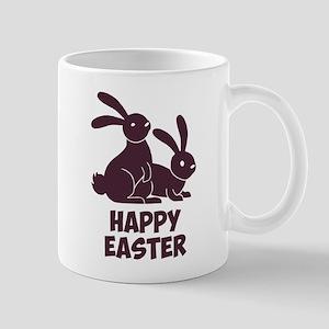 Happy Easter Bunnies Mugs