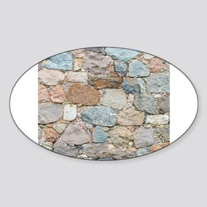 old wall from field stone Sticker
