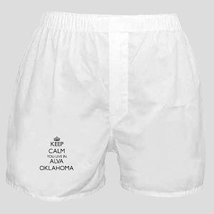 Keep calm you live in Alva Oklahoma Boxer Shorts