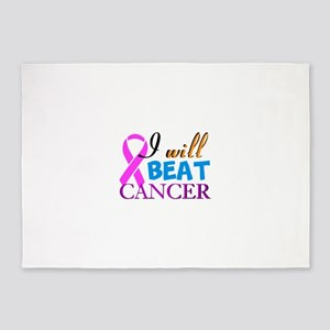 Beat Cancer 5'x7'Area Rug