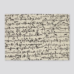 Ancient Manuscript 5'x7'Area Rug