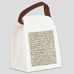 Ancient Manuscript Canvas Lunch Bag