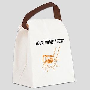 Custom Slapshot Canvas Lunch Bag