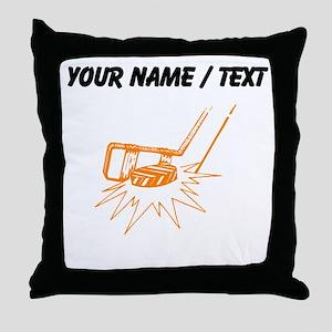 Custom Slapshot Throw Pillow