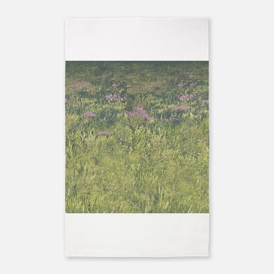 Wild Flowers 3x5 Area Rug