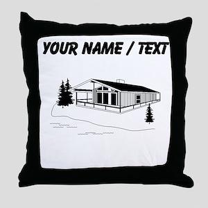 Custom Ski Chalet Throw Pillow