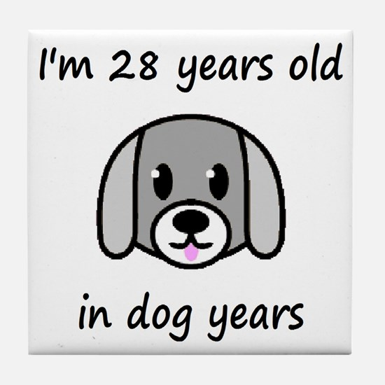 4 dog years 2 - 2 Tile Coaster