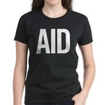 Aid (white) Women's Dark T-Shirt
