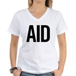 Aid (black) Women's V-Neck T-Shirt