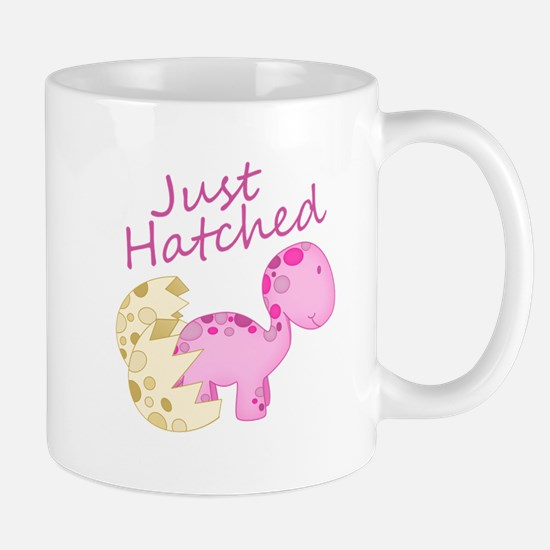 Just Hatched Pink Baby Dinosaur Mugs