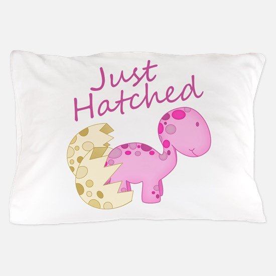 Just Hatched Pink Baby Dinosaur Pillow Case