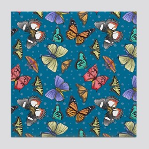 Follow the Butterflies Tile Coaster