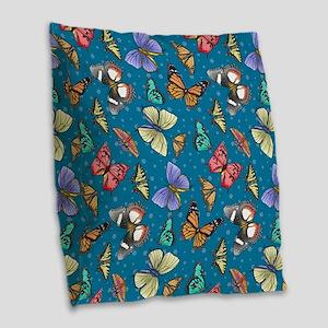 Follow the Butterflies Burlap Throw Pillow