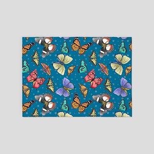 Follow the Butterflies 5'x7'Area Rug