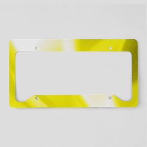 Yellow Flush License Plate Holder