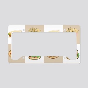 Food Tiles License Plate Holder