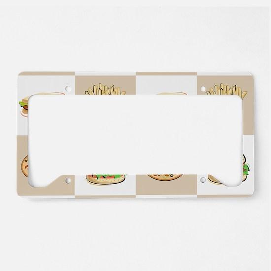 Food Tiles License Plate Holder