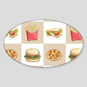 Food Tiles Sticker (Oval)