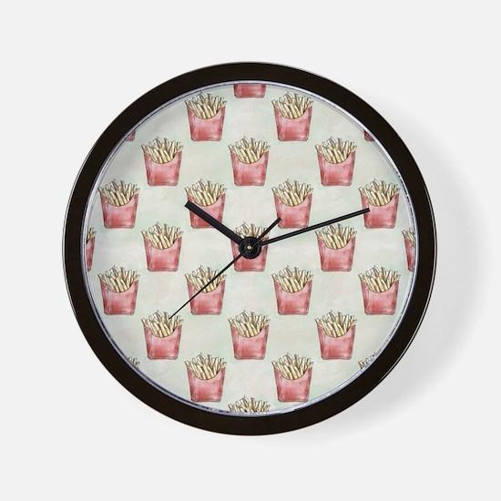 Extra Fries Wall Clock