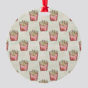 Extra Fries Round Ornament