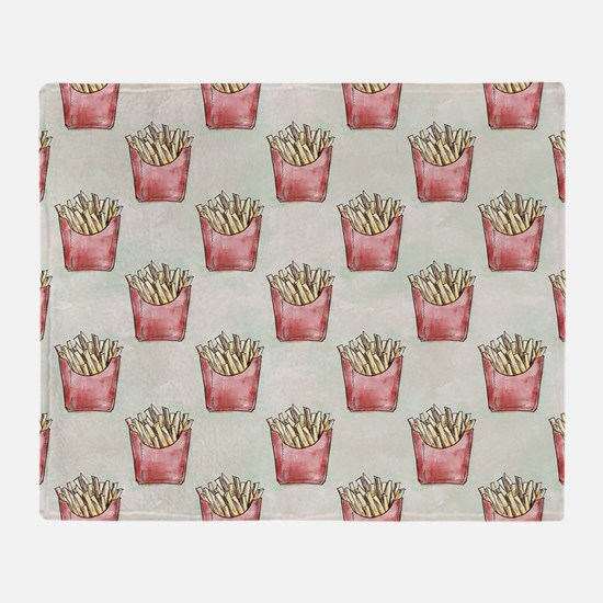 Extra Fries Throw Blanket
