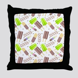 Popsicle Crowd Throw Pillow