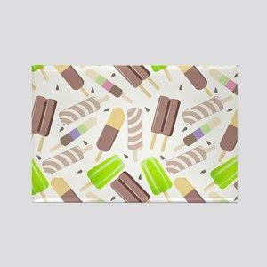 Popsicle Crowd Rectangle Magnet