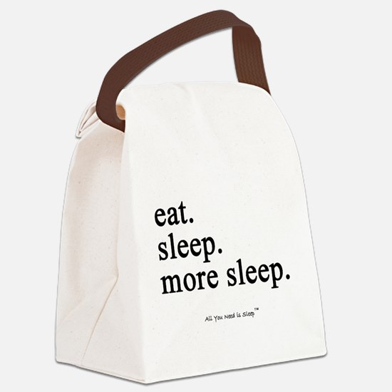 Funny Sleep Canvas Lunch Bag