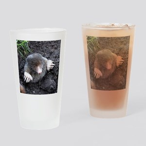 Adorable Mole in Dirt Drinking Glass