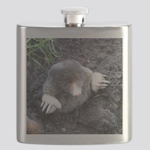 Adorable Mole in Dirt Flask