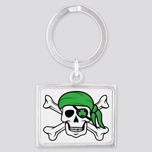 Irish Pirate Landscape Keychain
