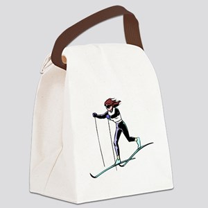 Cross Country Skier Canvas Lunch Bag