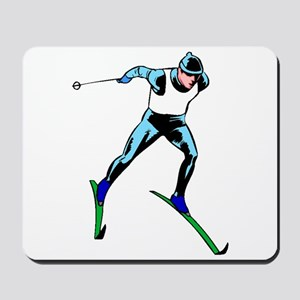 Cross Country Skier Mousepad