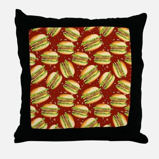 Burgers Baby Throw Pillow