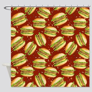 Burgers Baby Shower Curtain