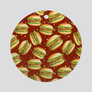Burgers Baby Ornament (Round)