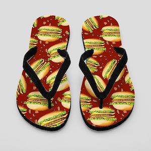Burgers Baby Flip Flops