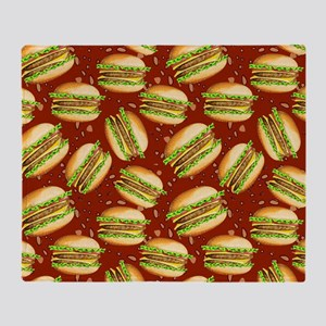 Burgers Baby Throw Blanket