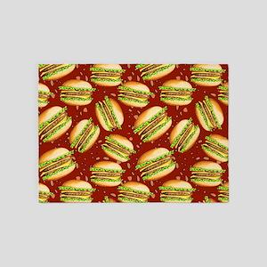 Burgers Baby 5'x7'Area Rug
