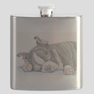 Boston Terrier Puppy Dog Flask