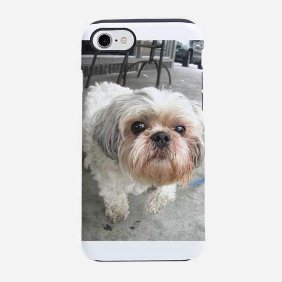 small dog at cafe iPhone 7 Tough Case