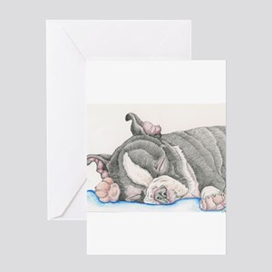 Boston Terrier Puppy Dog Greeting Cards